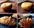 Bevágja a krumplit, majd a szeletek közé tesz bacon-t! Fantasztikus finomság lesz belőle!