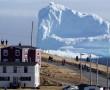 Egy hatalmas jéghegy jelent meg a kanadai Ferryland közelében