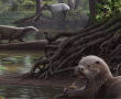 Félelmetes csúcsragadozó volt egy rég kihalt ősi vidrafaj