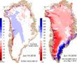 Csütörtökön Grönland 40%-a olvadni kezdett!! Ilyen eddig csak egyszer volt!